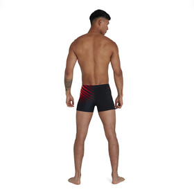 speedo Placement Aquashorts Men, noir/rouge